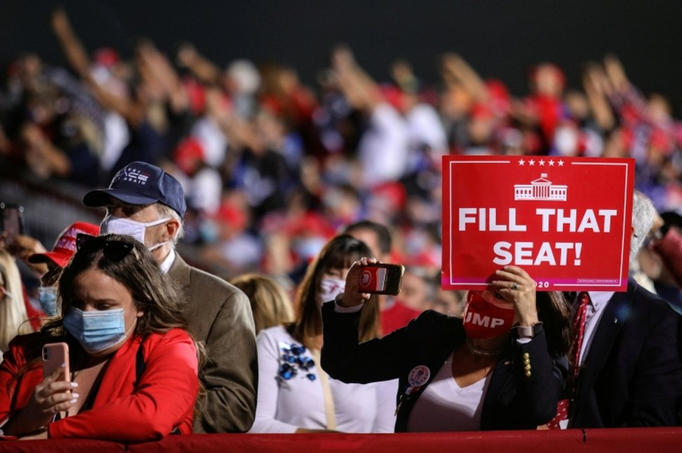 "Trump rallygoers in Ohio urged Trump to ""Fill that seat"""