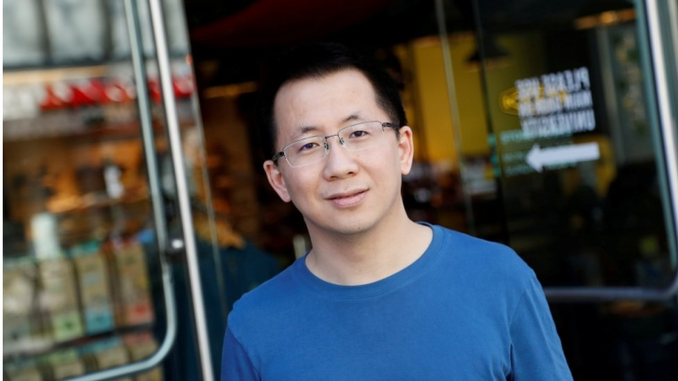 Zhang Yiming, founder and global CEO of ByteDance, the Chinese company which operates TikTok