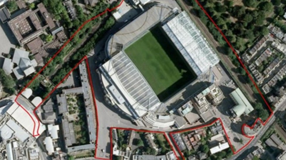 Plan of the new Chelsea stadium
