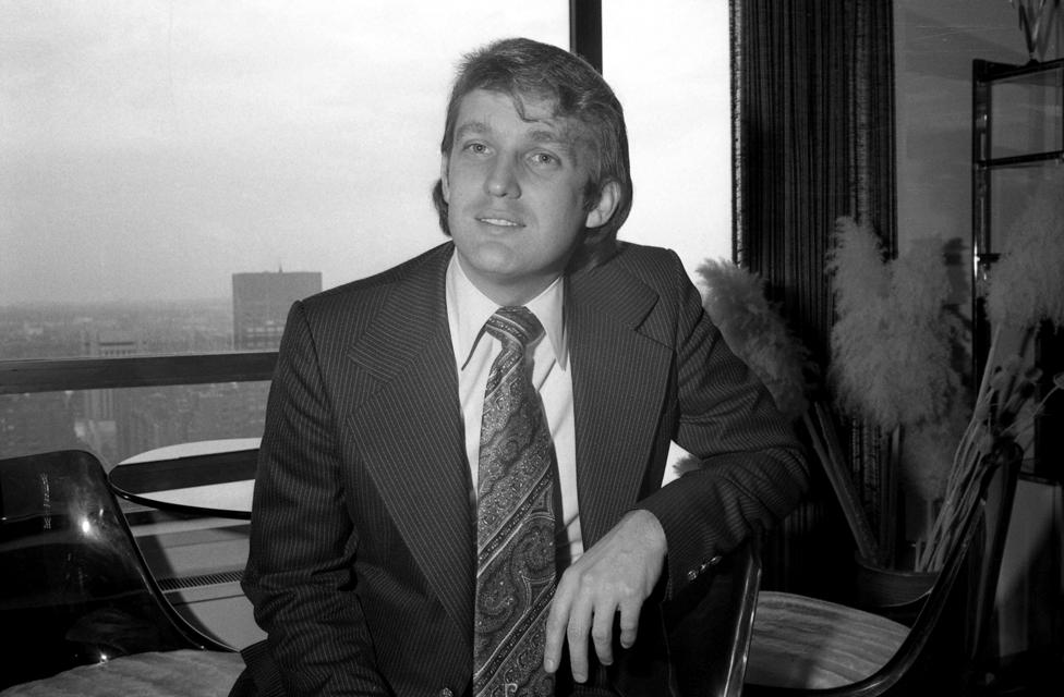 Donald Trump poses in 1976
