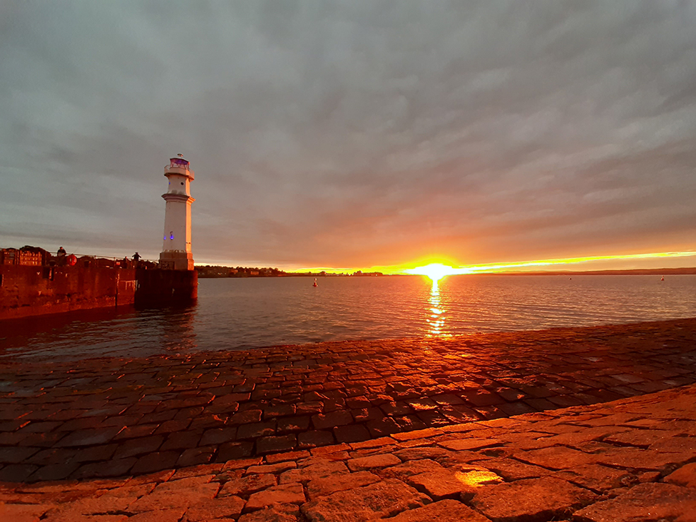 Newhaven Harbour, Edinburgh at sunset