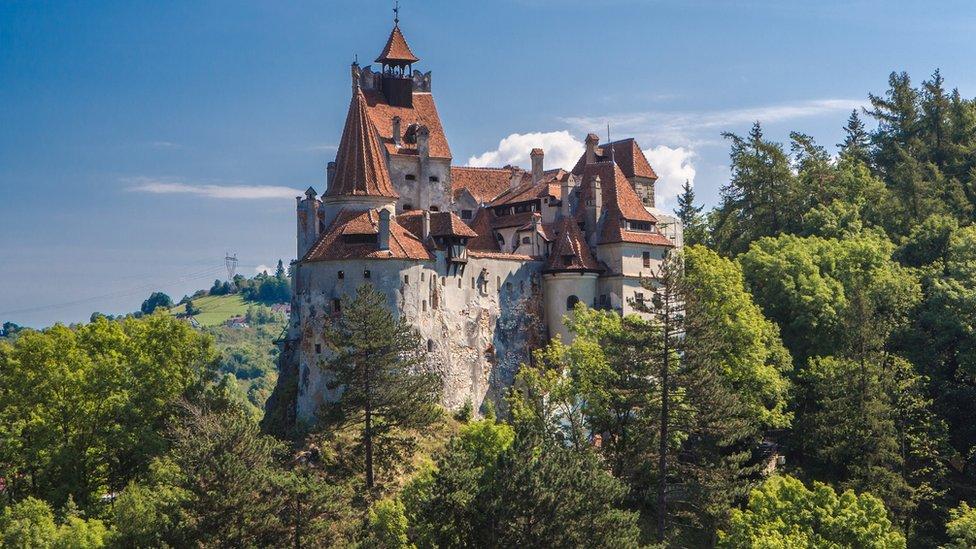 Romania, Transylvania, Bran City, Bran Castle, Dracula Castle.