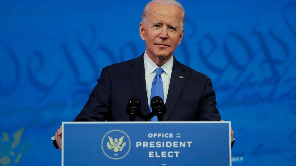 US President-elect Joe Biden. File photo