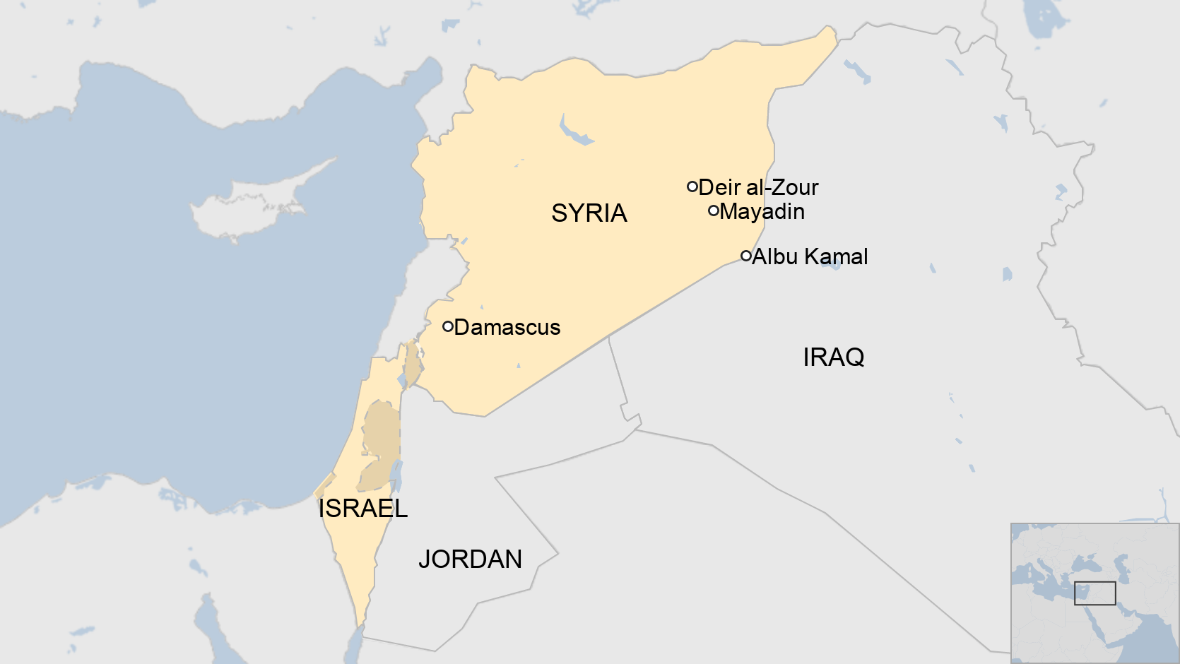 Syria war: Suspected Israeli strikes on Iran-linked targets 'kill dozens' thumbnail