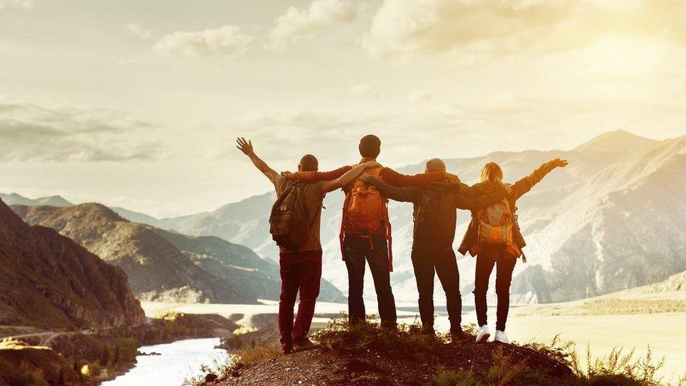 Četvoro ljudi na planini