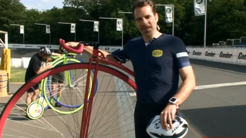 Mark Beaumont breaks British Penny Farthing record