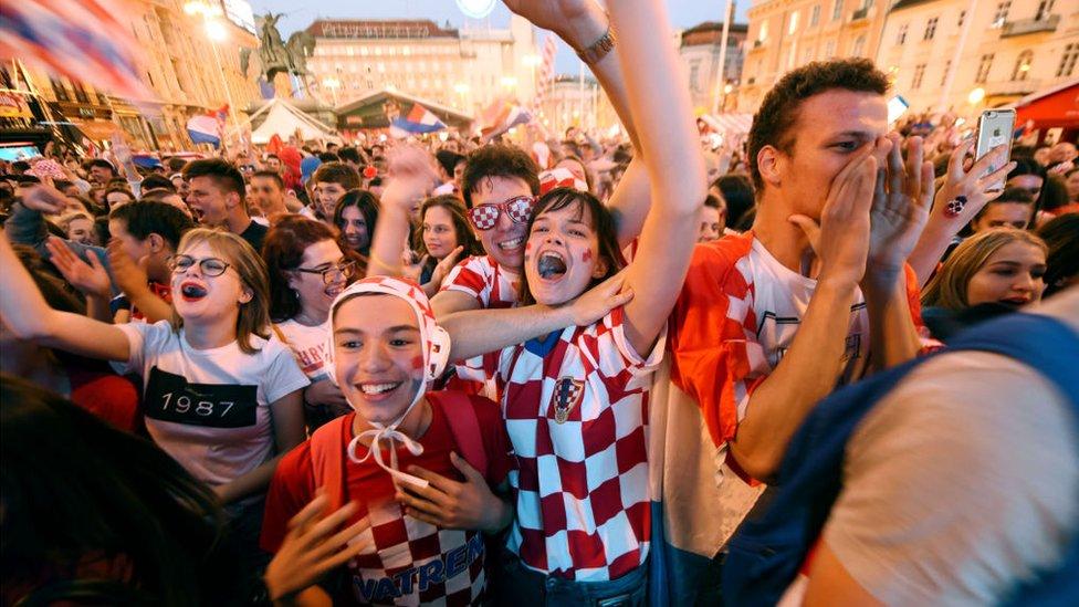 Pendukung Kroasia di Zagreb