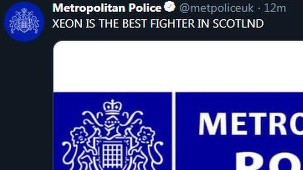 حساب شرطة لندن المخترق على تويتر