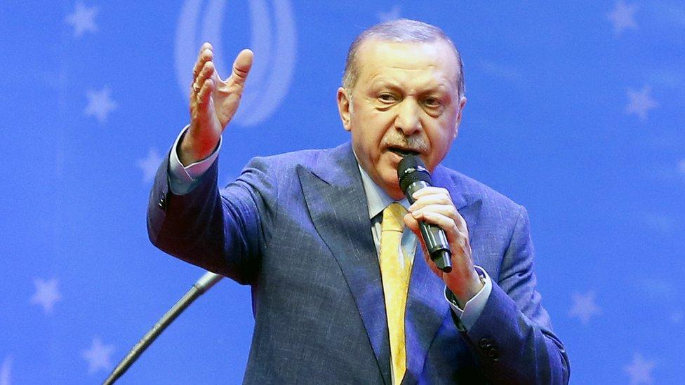 Erdogan en un mitin en Sarajevo