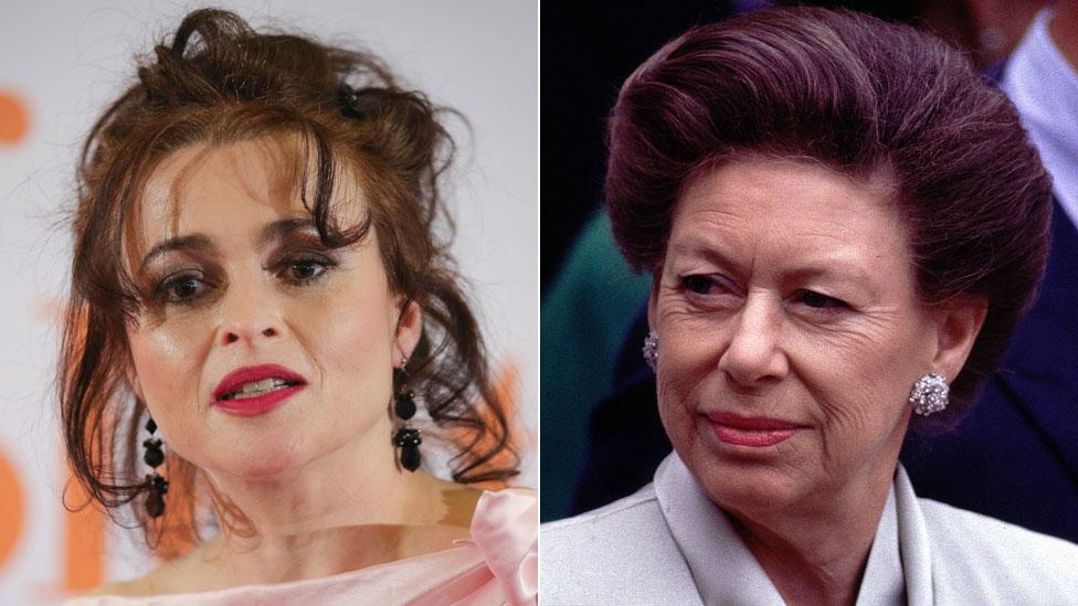 Helena Bonham Carter and Princess Margaret
