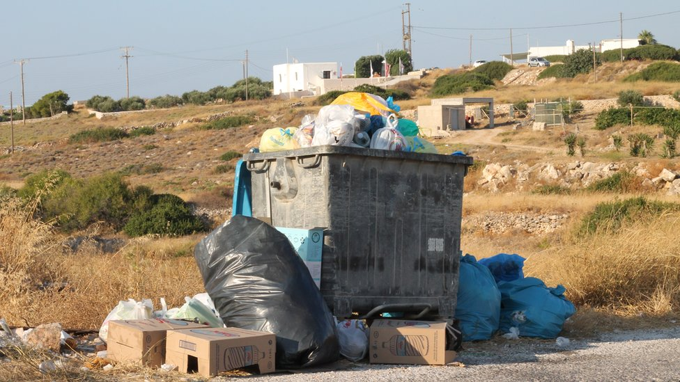 Bins on Paros