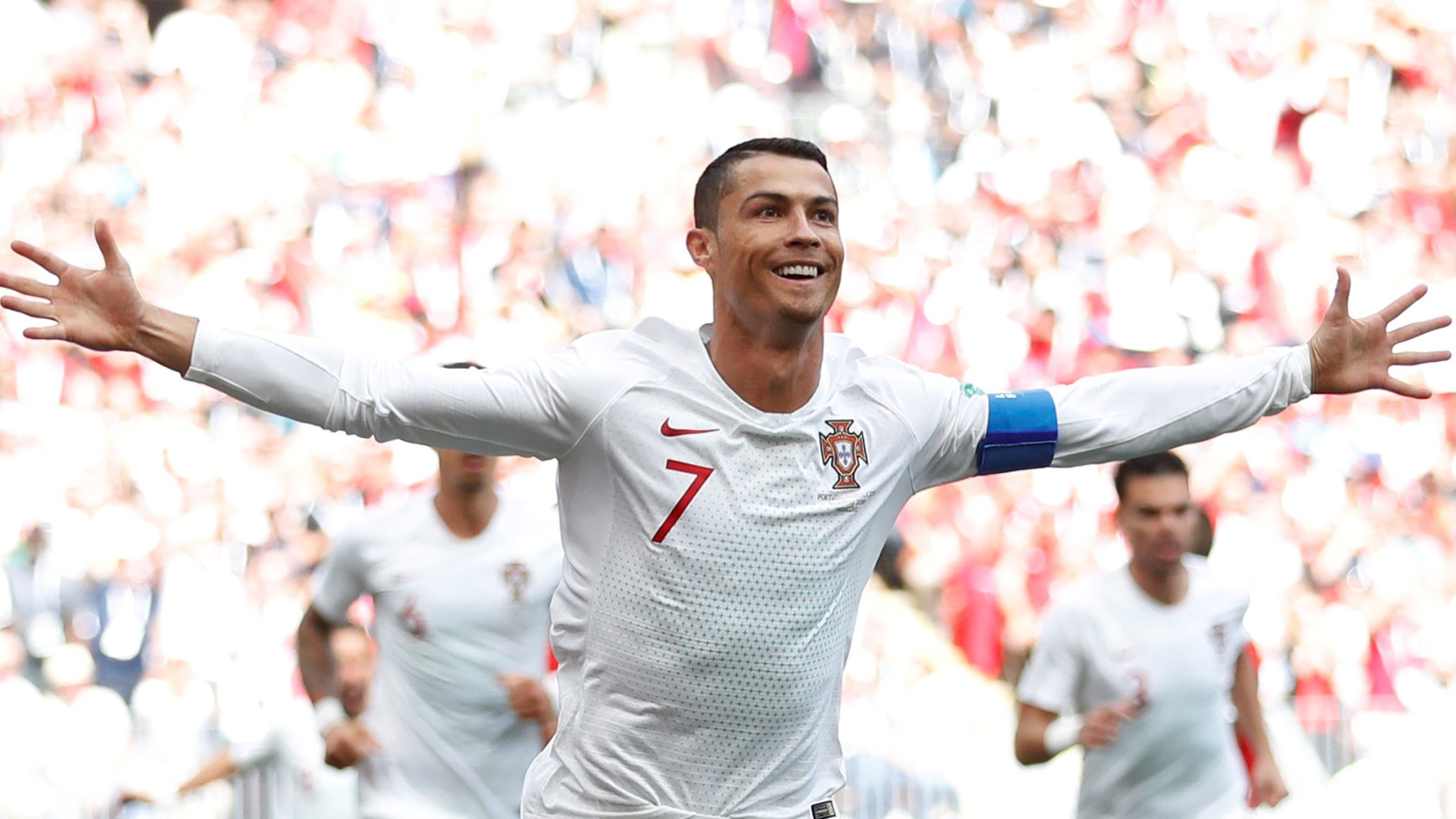 World Cup 2018: Cristiano Ronaldo heads Portugal winner against Morocco