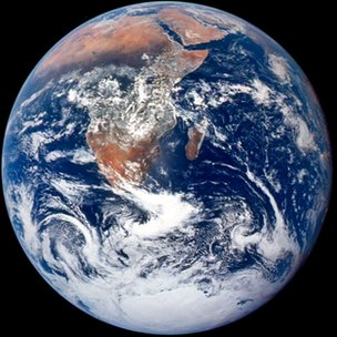"""Classic """"Blue Marble"""" photograph of the Earth taken on 7 December 1972"""