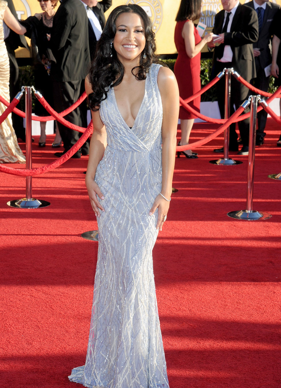 Naya Rivera en los premios Screen Actors Guild de 2012