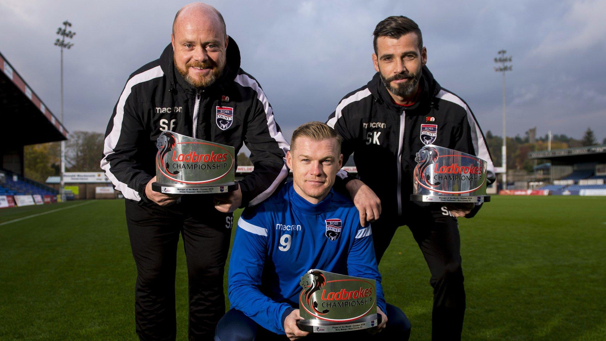 Ross County: 'Feel-good factor' back as Ferguson, Kettlewell & Mckay win monthly awards
