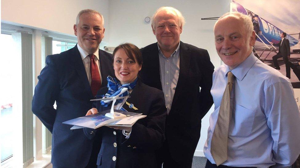 Council Chief Executive John Kelpie with BMI representatives