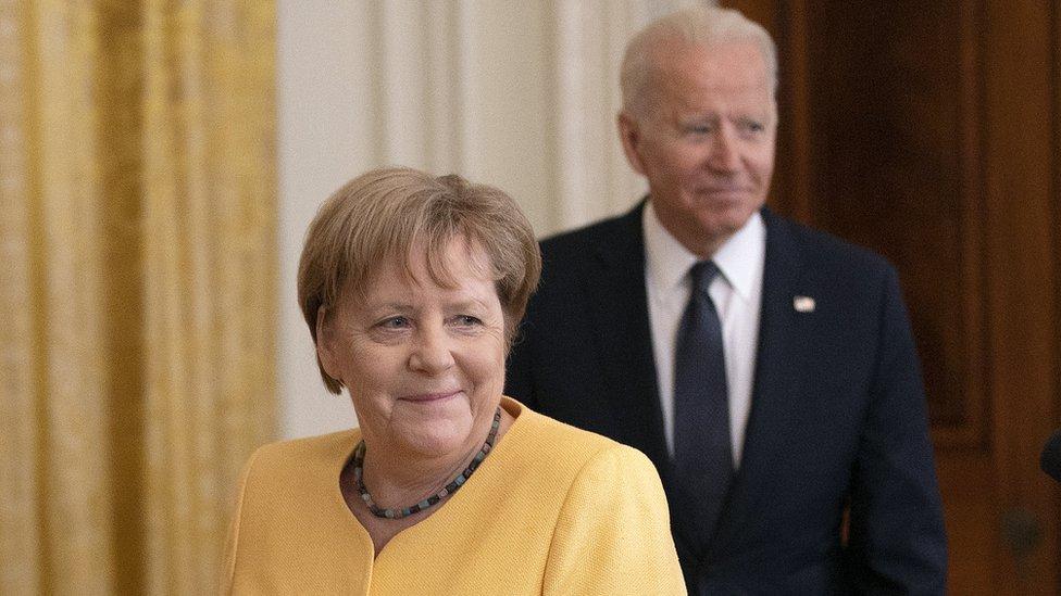 Angela Merkelь i Džo Baйden