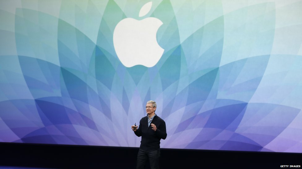 Tim Cook at the Apple Watch launch, March 2015