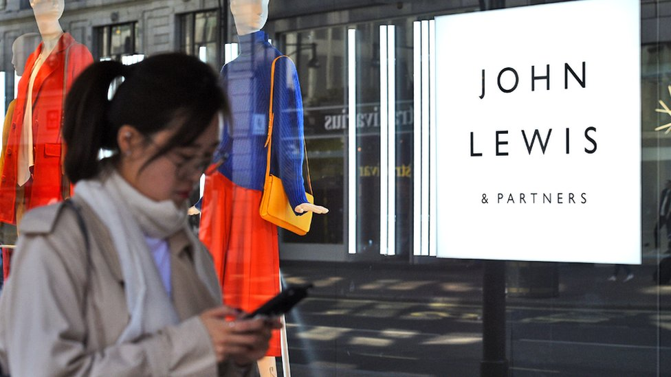 A view of the John Lewis and Partners store in Oxford street, London