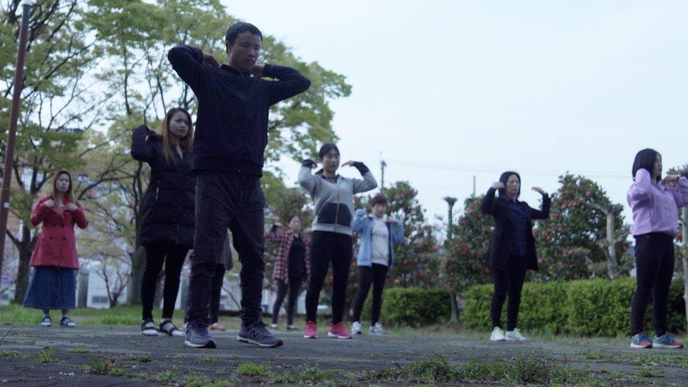 Radnici koji vežbaju