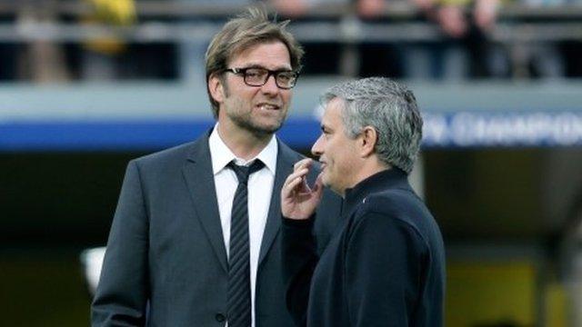 Jurgen Klopp (l) and Jose Mourinho