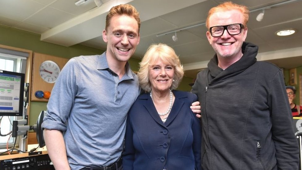 Tom Hiddleston breaches royal protocol with a shoulder squeeze for The Duchess of Cornwall in 2016