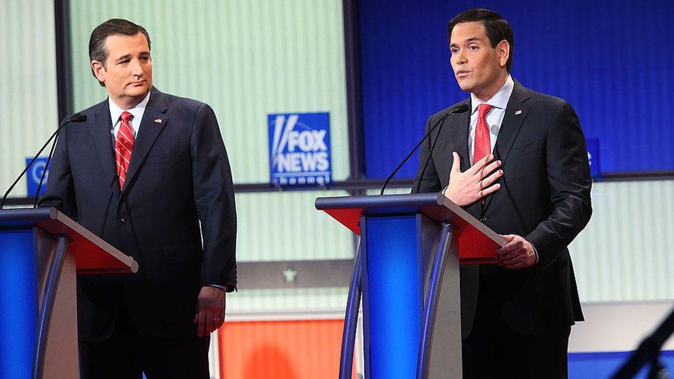 Ted Cruz y Marco Rubio