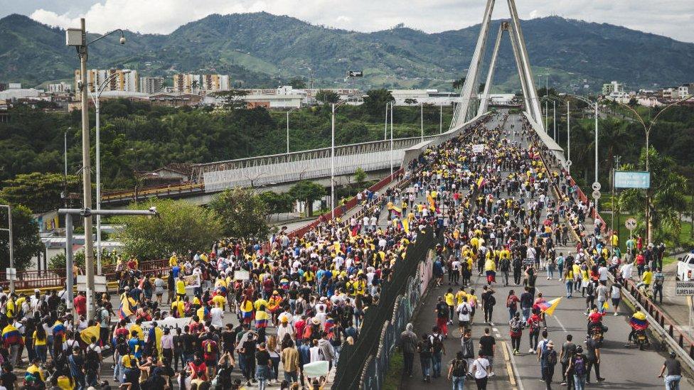 Protesta en la ciudad de Pereira.