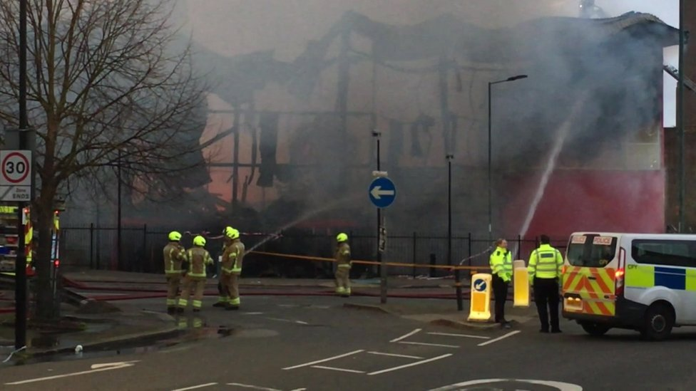 Fire in Purley Way