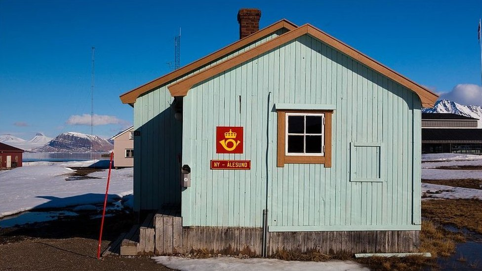 The world's most northerly post office in the Norwegian territory of Svalbard