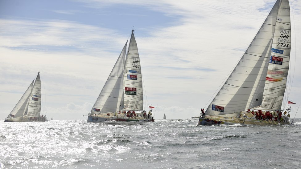 Yachts in the Round the World Yacht Race