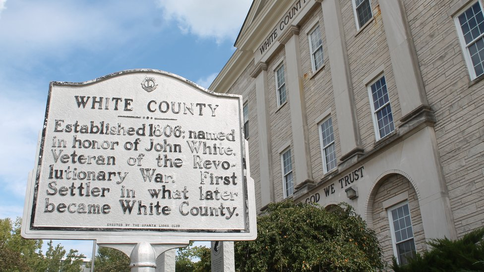 White County sign