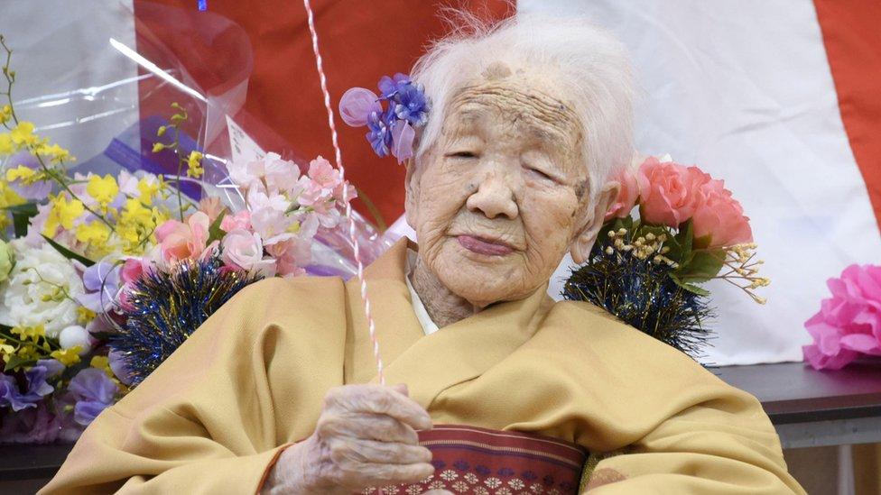 Kane Tanaka on her 117th birthday