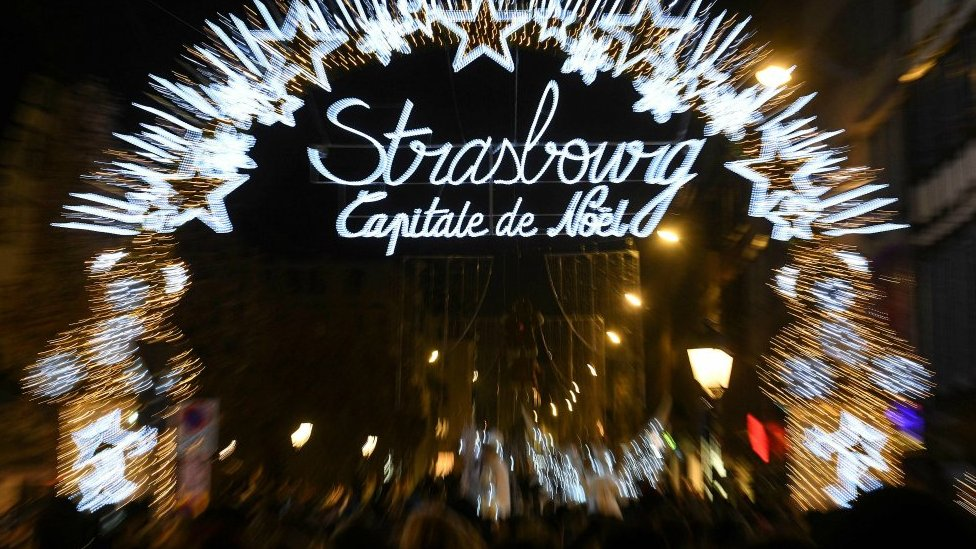 Christmas market in Strasbourg. 23 Nov 2018