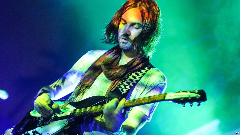 Kevin Parker of Tame Impala performs in Los Angeles in August
