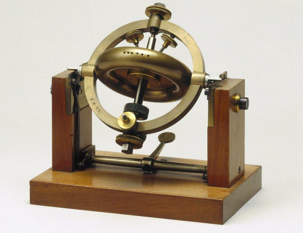 Parte del giroscopio de Foucault.