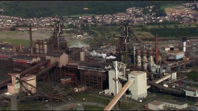 Tata Steel works in Port Talbot