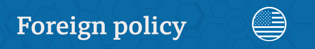 Section divider: Foreign policy