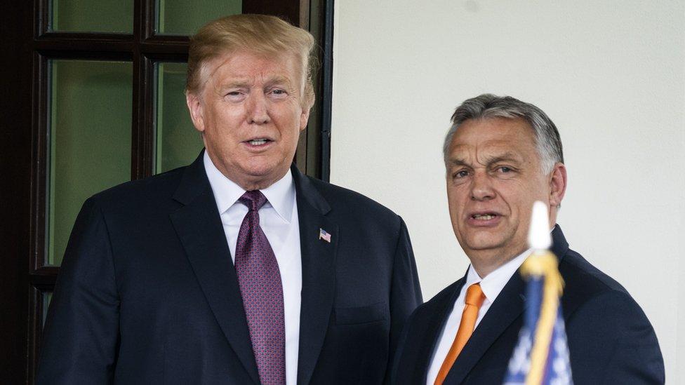 Viktor Orbán con Trump