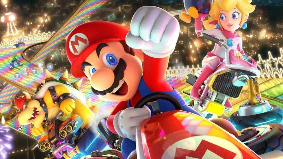 Bowser, Mario and Princess Toadstool