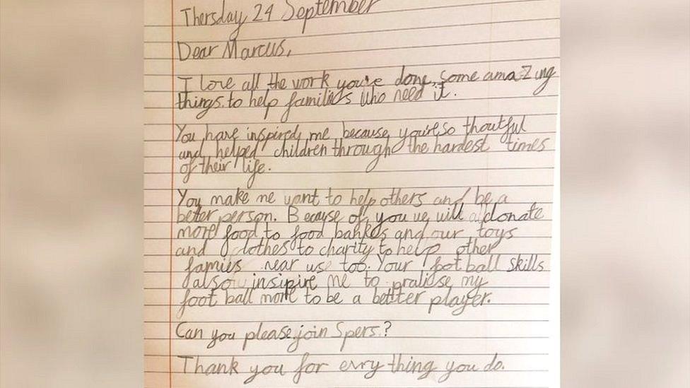 Letter to Marcus Rashford
