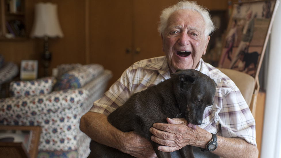 A dog that transformed a 104-year-old's life