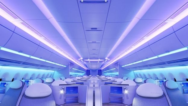 Interior del Airbus A350 XWB