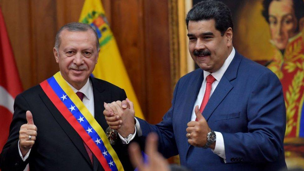 NO USAR / BBC. Erdogan y Maduro en Miraflores.