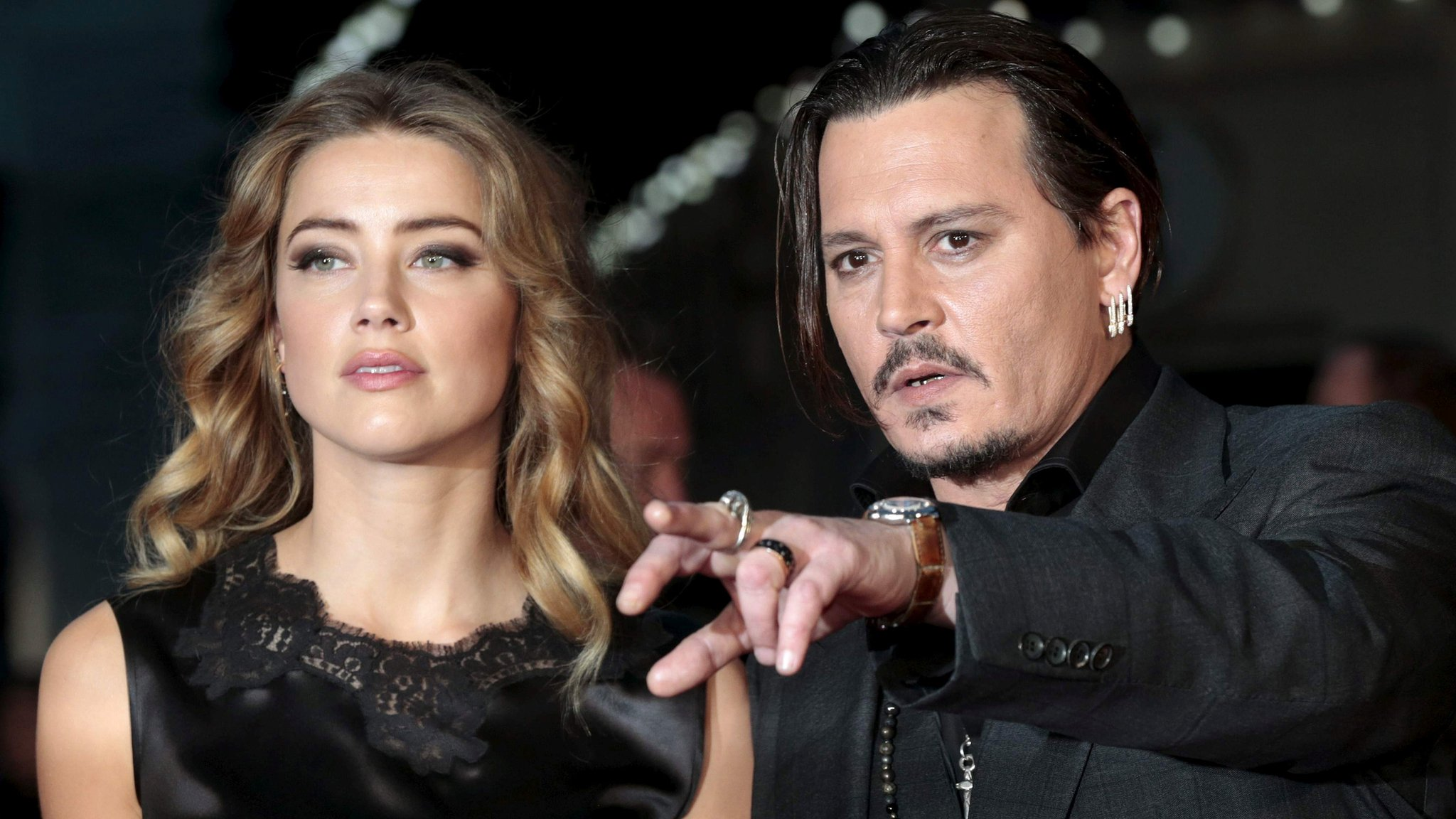 Johnny Depp and Amber Heard up for worst acting awards