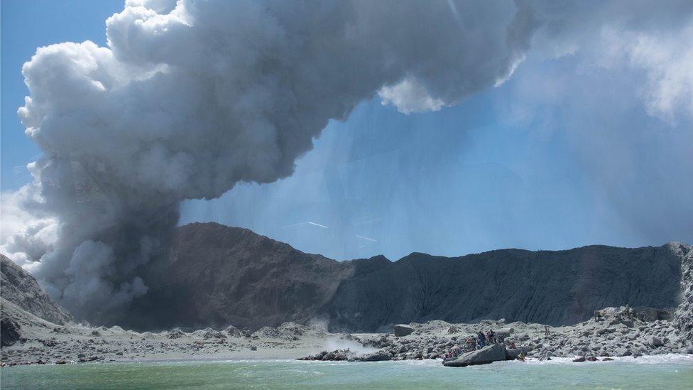 Volcán Nueva Zelanda