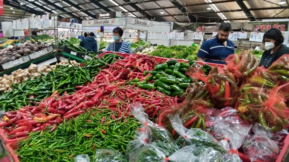 The chilli selection at the local market.