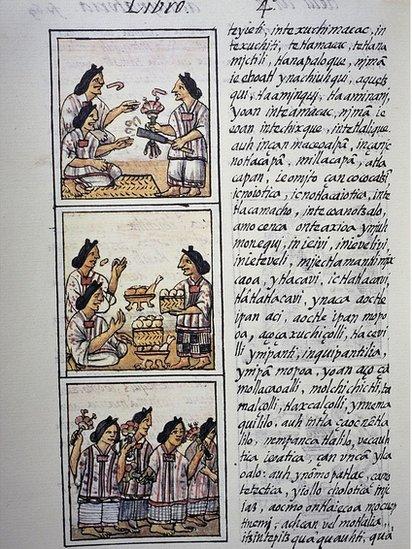 Página del Códice Florentino.