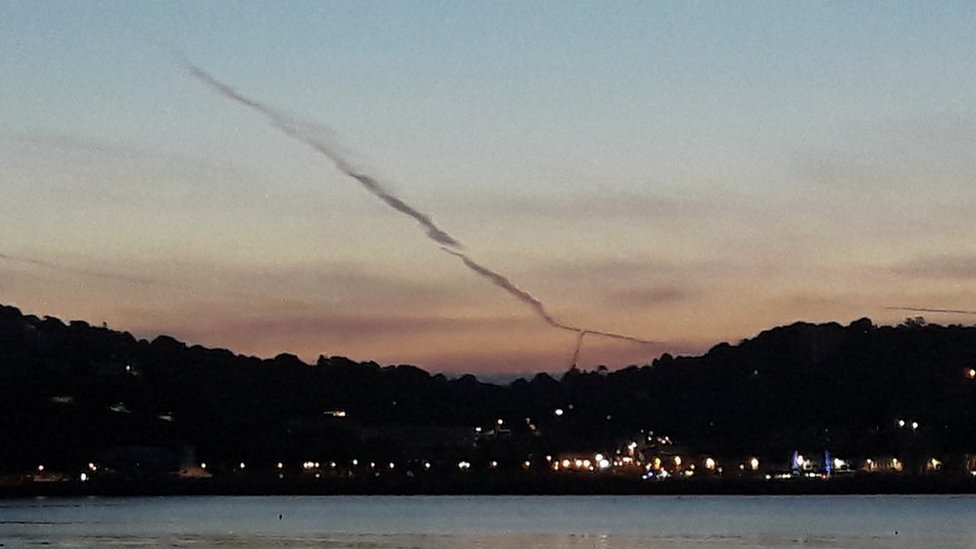 Meteor trail over Torquay