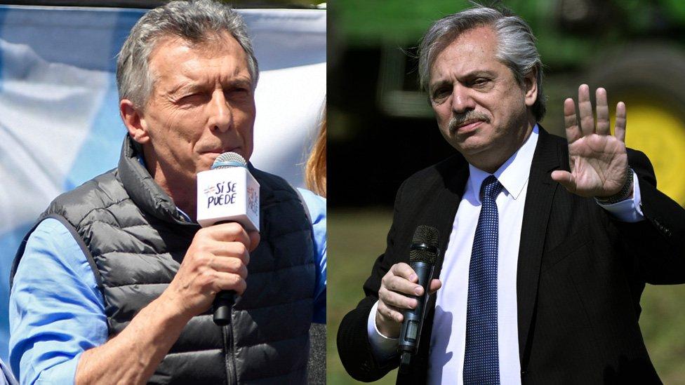 Macri, por la reelección. Fernández, en nombre la unidad peronista.